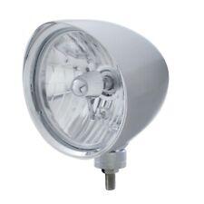 "UNITED PACIFIC ""CHOPPER"" Headlight w/ Smooth Visor - Crystal H4 Bulb 32510"