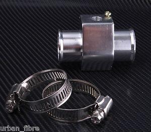 Alloy T Piece Temp Adapter Water Coolant Sensor Silver Temperature Hose Gauge