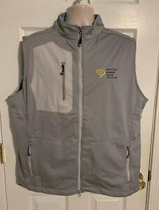 Peter Millar Crown Sport Gale Force Stretch Soft Shell Vest Mens Sz XL  NWT LOGO