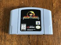 Mortal Kombat 4 Nintendo 64 N64 Fighting Game Cart Authentic TESTED! Works Great