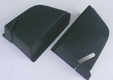 VOLVO 240 244 Rear Seat Belt Cover Set BLACK NEW! Reproduction 1210580 1210581