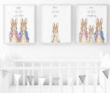 Peter Rabbit Nursery Wall Art Prints, Peter Rabbit Nursery Decor -  Set Of 3