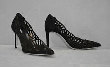 I0 NEW GIORGIO ARMANI Scalloped Suede & Crystal Pump Heels Shoes Size 38.5 $1075