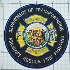 HAWAII, DEPT OF TRANSPORTATION AIRCRAFT RESCUE FIRE AIRPORTS PATCH