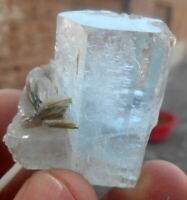 154 CT Transparent Aquamarine With Muscovite Combine From Nagar Pakistan