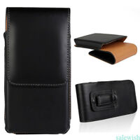 Vertical PU Leather Carry Pouch Case Cover Belt Clip Holster for iPhone/Samsung