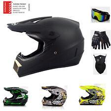 ASNZS Motorcycle Open Full Face Helmet Motocross Dirt Bike Helmets Goggles M L
