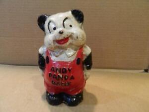 Rare ! Andy Panda Figure Composition Coin Bank Walter Lantz Prod. 1930's