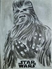Chewbacca Solo: A Star Wars Story Sketch Card Neil Camera Topps 1/1