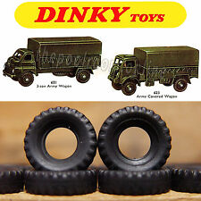 DINKY TOYS TYRES X 10 - 17mm Diameter - BLACK TREADED