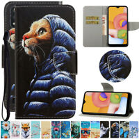 For Samsung Galaxy S20 A71 A51 A01 Painted Wallet Flip Leather Phone Case Cover