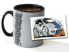 More details for cartoon car hatchback fiesta st mk6 personalised ceramic mug cup