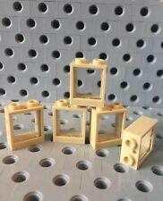 NEW LEGO Window Frame 1x4x3 W//Glass Pane Lot 10 Pcs each 60594 /& 35318