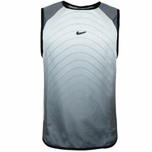 Nike Mens Tank Top Gym Training Running Vest Grey 174471 001 S