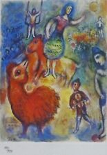 MARC CHAGALL CIRCUS 1985 SIGNED HAND NUMBERED 189/333 ETCHING