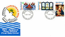 NEW ZEALAND 1975 CHRISTMAS SET ON AN ILLUSTRATED FIRST DAY COVER (a)