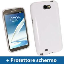 Bianco Custodia TPU Gel per Samsung Galaxy Note 2 II N7100 Case Cover Rigida