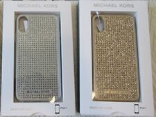 NWT Michael Kors iPhone X - PAVE STUDDED GLITTER - SILVER or GOLD