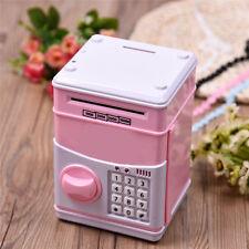 Password Piggy Bank Cash Coin Deposit for Children's Toddler Toys Safe Box Pink