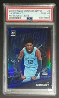 2019 OPTIC MY HOUSE BLUE PRIZM JA MORANT Rookie Card RC #'d 85/85 PSA 10 Pop 14