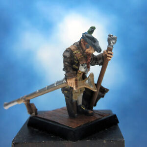 Painted Wyrd Miniature Pirate with Parrot