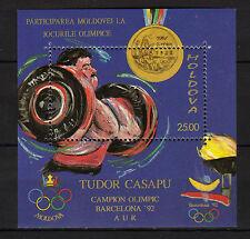 Moldova : 1992 Medal Winners Olympic Games Barcelona 92 Minisheet MNH