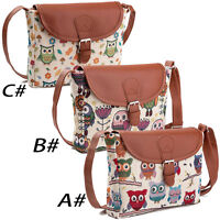 Owl Printed Women Handbag Satchel Shoulder Bag Crossbody Tote Bag Messenger Bags