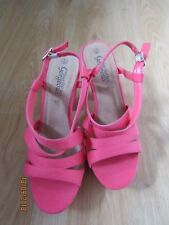 NEW LOOK LADIES CORAL STRAP DETAIL HEELED SHOES UK SIZE 6 EUR 39