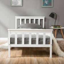 HIGH QUALITY 3FT White Wooden Single Bed Pine Bed Solid Wood Frame Adult Child