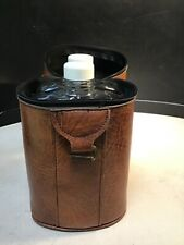 Double Flask Carrier w/ 2 Glass Flasks Vintage