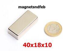 Blockmagnet Neodym-Magnete 40x18x10 Quader