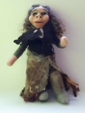 Hand Made Needle Felted Medicine Woman Art Wool Doll