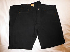 Homme nouveau Noir LEVI 501 bouton Zip Straight-Leg Denim Jeans-Taille 36/32