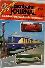 Eisenbahn Journal Edición especial 60 Años Tráfico rápido en Alemania I/94