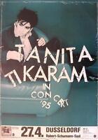 "TANITA TIKARAM TOUR POSTER / KONZERTPLAKAT ""LOVERS IN THE CITY TOUR 1995"""