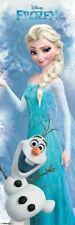 FROZEN ~ ELSA & OLAF 21x62 DOOR SIZE POSTER Princess Idina Menzel Disney
