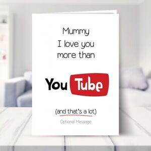 Funny Birthday Card for Mummy / Mum Birthday Cards 25th 30th 35th 40th Mam Mom