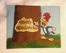 "Walter Lantz Original Painting ""Woody Woodpecker"" Artist Signed -V.Rare - 1 Of 2"