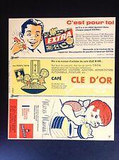 Rare Buvard Supplément au journal Tintin N° 37 de 1960 SUBLIME ETAT NEUF