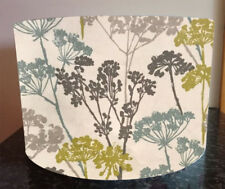 Lampshade Cow Parsley Teal Clarke Handmade Yellow Flowers Lamp Shade Light Floor