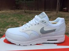 New Women's Nike W Air Max 1 Ultra Essentials Running Shoes White/Wolf Grey Sz 7