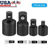FTVOGUE 4 Unids//Set Impact Socket Converter Ratchet Reductor Llave Adaptador 1//21//4 3//8para Air Hand Tools Black
