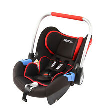 SPARCO Child Seat F300i GROUP 0+ BABY SEAT 0-18mths 0-13kgs ECE BLACK/RED