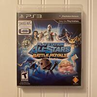 Playstation All Stars Battle Royale PS3 (2012, PlayStation 3, Sony) no Manual T