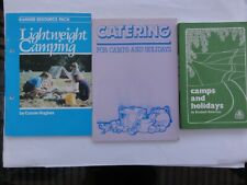 Vintage Girl Guide Official Books, Camping, Holidays, Catering