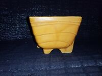 Vintage Cookson Pottery Orange Footed Herb/Flower Planter CP 1266 USA