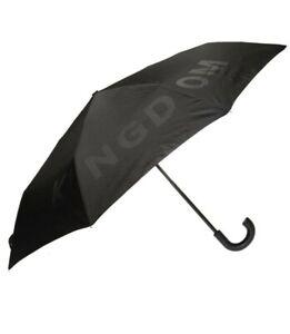 Burberry Kingdom Print Folding Umbrella, Black