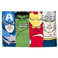 Marvel Avengers Lineup Fleece Blanket Iron Man Thor Hulk Captain Americap0923