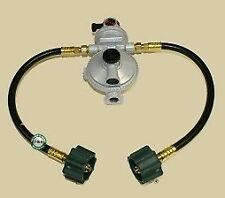 "Fairview RV Camper LP / Propane 2 Stage Gas Regulator, Auto Changeover w 12"" QCC"