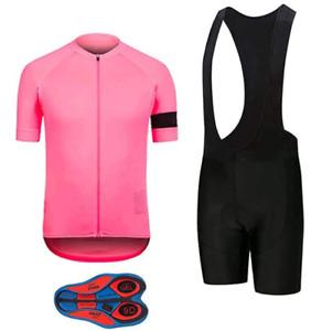 Giro d'Italia Pink Men's Cycling Short Sleeve Set Bicycle Shirt + Bib Set
